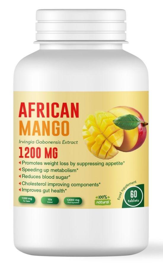 Африканско манго - регулира кръвната захар и намалява лошия холестерол -  1200 мг, 60 таблетки