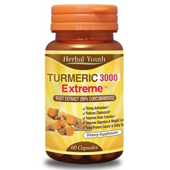 Turmeric Extreme 3000 - Куркума с 95% чист екстраккт от растението (60 капсули, 500 mg)