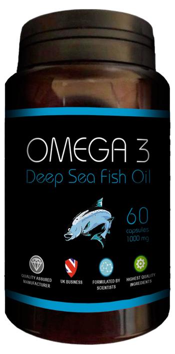 Омега 3 - Концентрат от рибено масло, 60 капсули, 1000 mg (Достатъчни За Два Месеца)