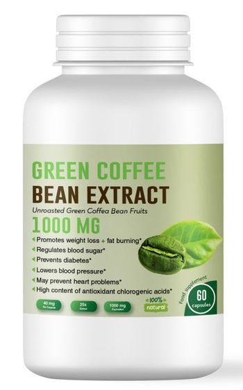 Зелено кафе за отслабване 1000 мг, 60 капсули