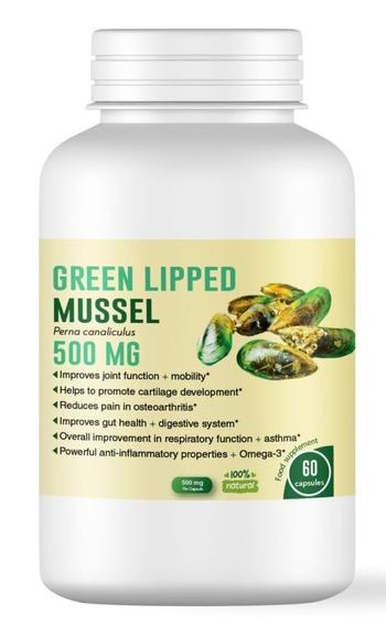 Зеленоуста мида - най-добрата грижа за ставите - 500 мг, 60 капсули