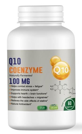 Екстракт Коензим Q10 за здравето на сърцето, мозъка, имунитета и кожата - 100 мг, 60 капсули