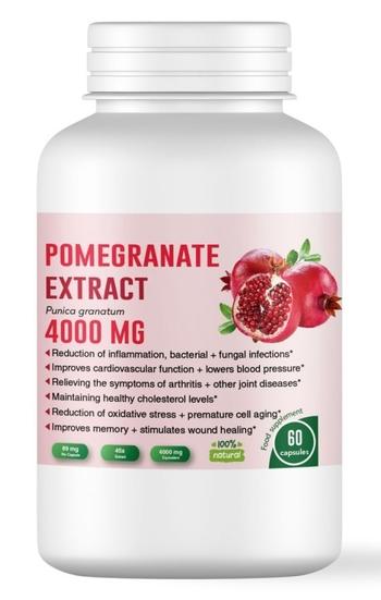 Екстракт от нар за здравето на сърцето - 4000 мг, 60 капсули