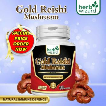 Red Reishi Mushroom  (екстракт от гъба Рейши) – мощен имуностимулант, за контрол на холестерола и кръвната захар, против депресия – 60 капсули