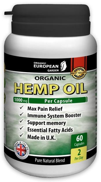 Масло от конопено семе капсули 1000 мг – при кожни, сърдечни и дихателни проблеми, 60 капсули